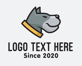 Doggy - Grey Hound logo design