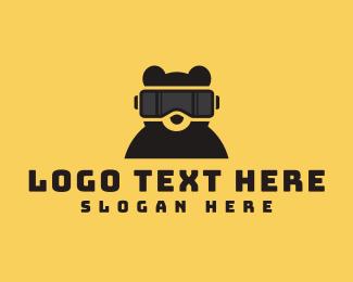 Teddy - Bear VR Gaming logo design