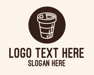 Coffee Store - Stroke Coffee Cup logo design