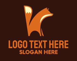 Animal Rights - Orange Wild Fox  logo design