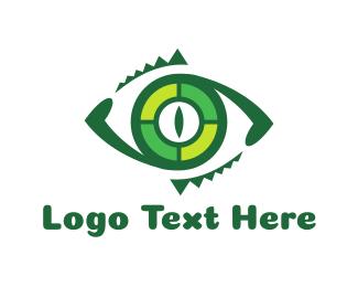 Crocodile - Reptilian Eye logo design