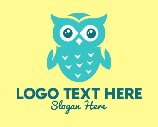 Skyblue - Cute Blue Owl logo design