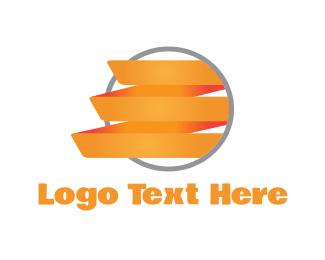 Ribbon - Orange Ribbon logo design