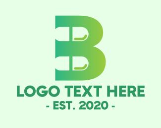 Supplement - Capsule Pill Letter B logo design