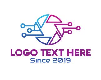 Lines - Digital Photography Shutter Lens logo design