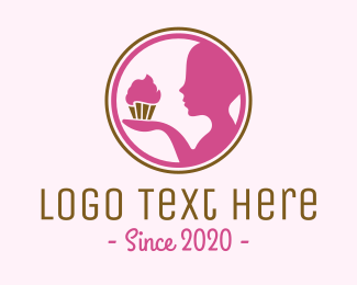 Treat - Pink Cupcake Baker  logo design