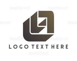 Letter L - Modern L & A logo design