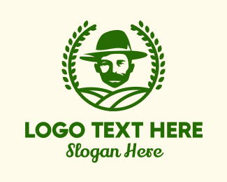 Beard - Bearded Farmer Man logo design
