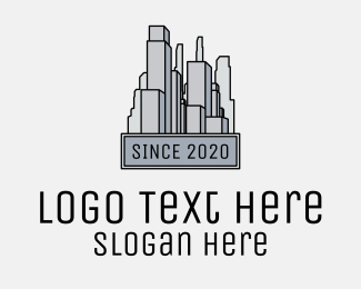 Urban Planner - Urban City Buildings  logo design