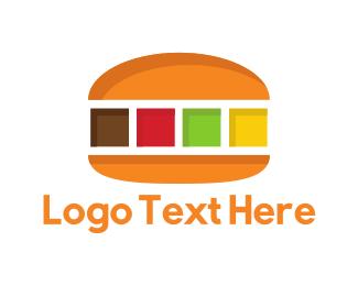 Sandwich - Color Burger logo design