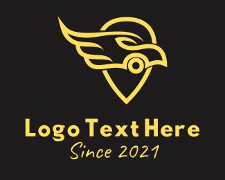Racing - Golden Car GPS logo design