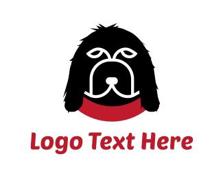 Dog Walker - Black Dog   logo design