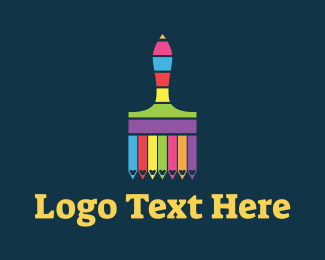 Lgbti - Colorful Paintbrush Stripes logo design