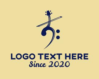 Musical Instrument - Violin Music logo design