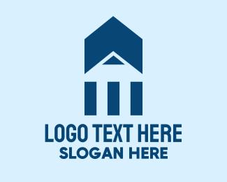 Grade School - Pencil Building Home  logo design
