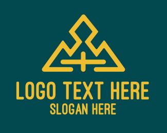 Jewelry Store - Gold Cross Mountain logo design