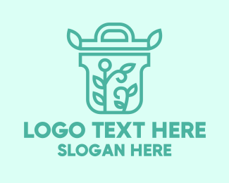 Reusable - Organic Pot Plant logo design