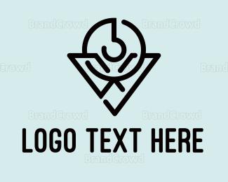 Cryptic - Modern V Hook logo design