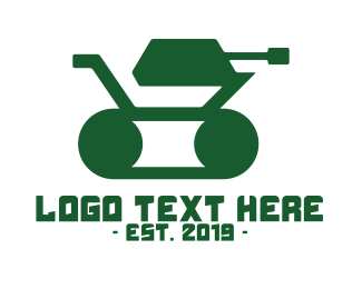 Warfare - Green Minimalist Tank  logo design