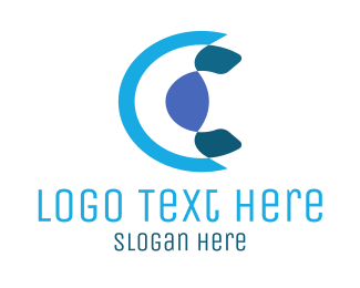 Different - Abstract Blue Letter C logo design