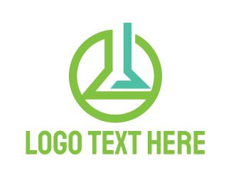 Bio Lab - Green Circle Lab logo design