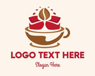 Cup And Saucer - Floral Cafe logo design