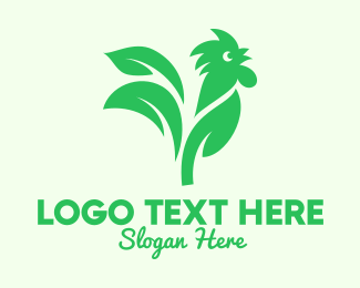 Rooster - Green Nature Rooster logo design