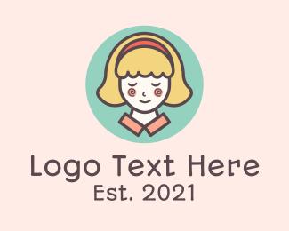Blonde - Pretty Blonde Lady logo design