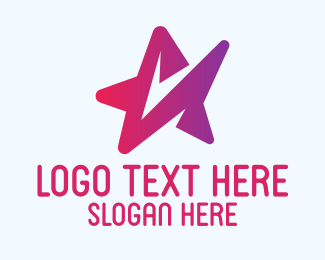 Technology - Abstract Star Technology  logo design