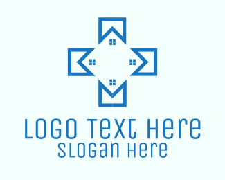 Colored - Blue Medical Facility logo design