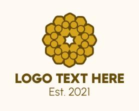 Company - Geometric Gold Pattern logo design