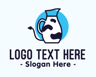 Fresh Milk - Cow Milk Pitcher logo design