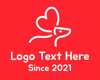 Moose - Moose Heart Line Art logo design