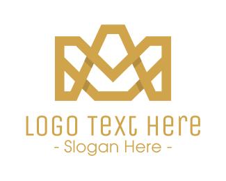 Architectural - Modern Stroke Crown logo design