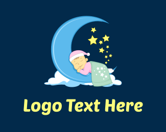 Soft - Baby Sleeping logo design