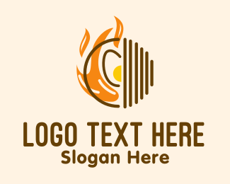 Grilling - Cooking Fire Grill logo design