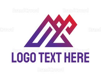 Modern - Modern Triangle Outline logo design