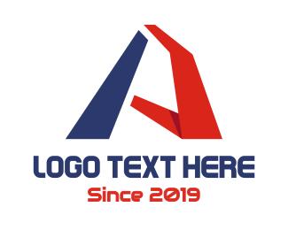Program - Blue Red Modern A logo design