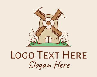 Provincial - Countryside Windmill logo design