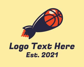 Blast - Basketball Missile Blast logo design