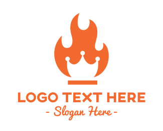 Orange Fire - Fire Crown logo design
