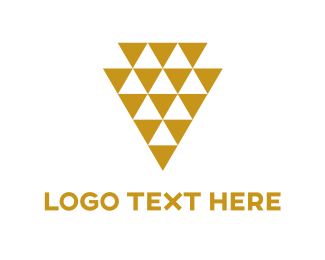 High Quality - Golded Triangles logo design