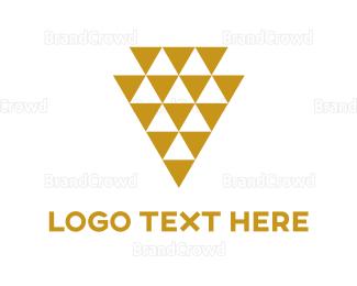 Fortune - Golded Triangles logo design