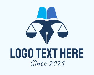 Weight - Blue Pen Scale logo design