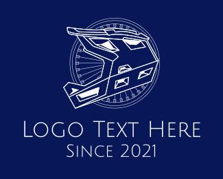 Bike Repair - Minimalist Motorcycle Helmet logo design