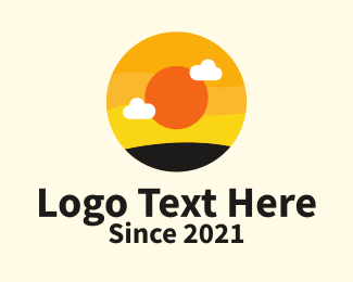Rising - Round Sunrise Travel logo design