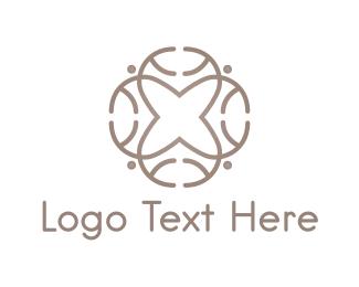 Aged Care - Cross Flower logo design