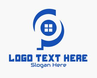 Window - Window Letter P logo design