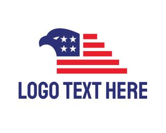Airforce - American Eagle Flag logo design