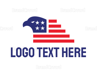 Airline - American Eagle Flag logo design